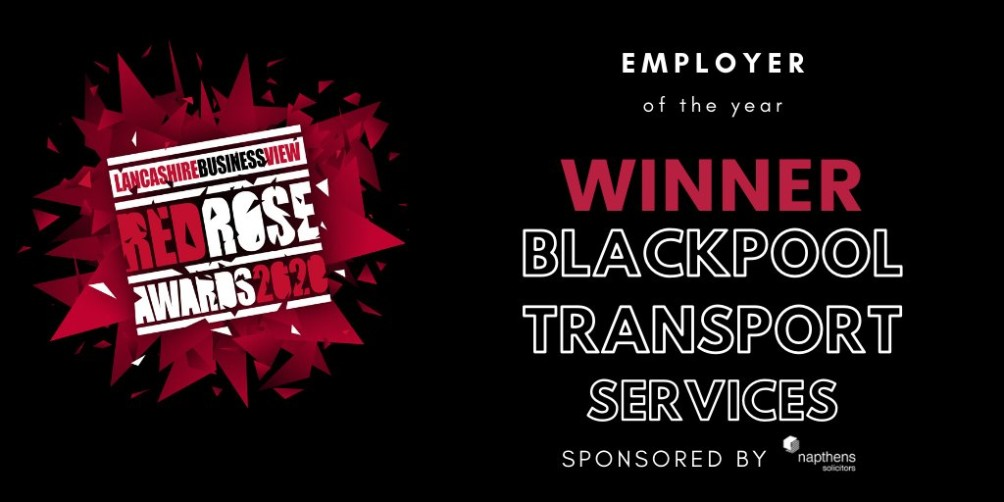 Blackpool Transport crowned Employer of the Year at Red Rose Awards