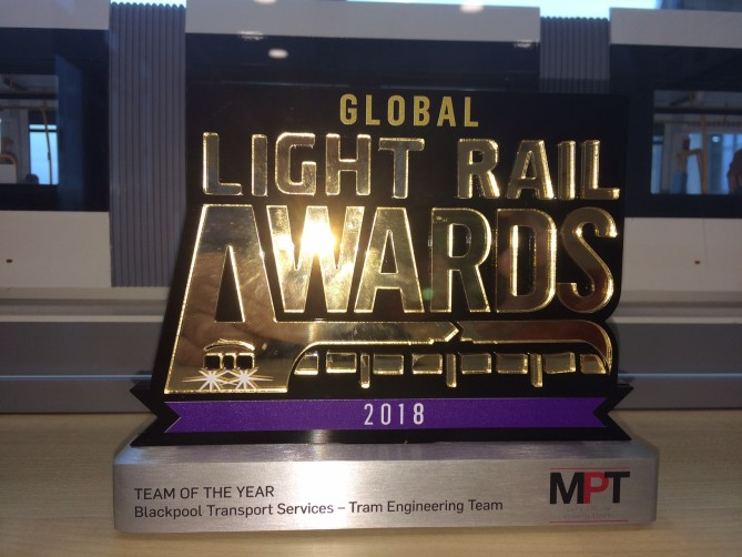 Blackpool Trams Win Team of the Year Award